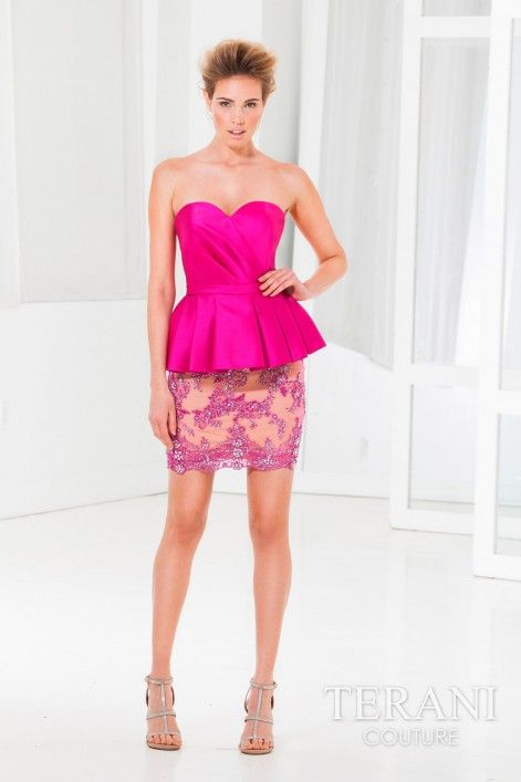 Terani Couture C3652 - This pretty cocktail dress is sure to make a ...