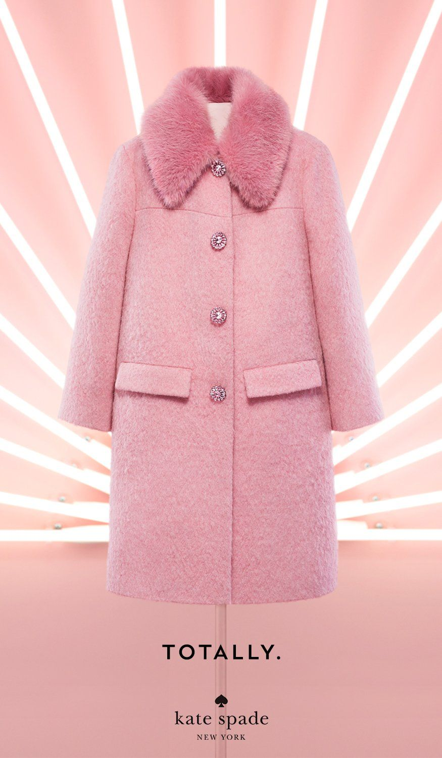 Just Say Yesssssss Shop The Gift Yourself Guide Pink Fur Coat Kate Spade Coat Pink Coat Outfit [ 1500 x 875 Pixel ]