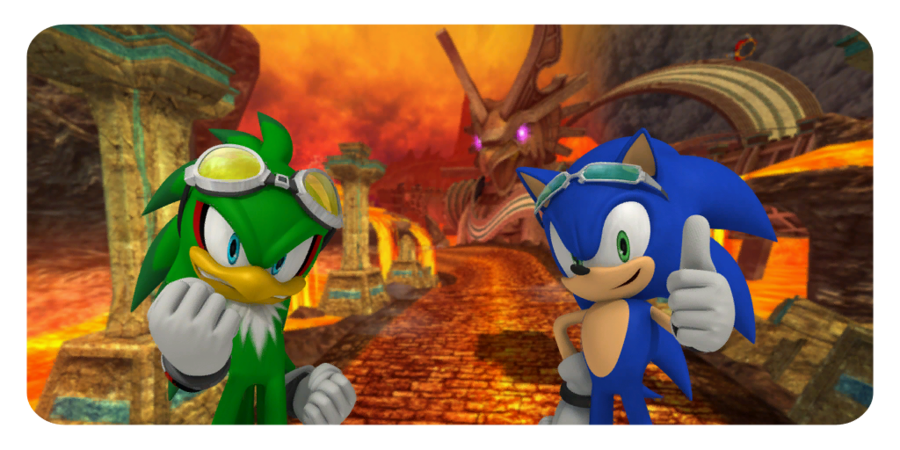 Sonic The Hedgehog And Jet The Hawk Sonic Free Riders Sonic Sonic The Hedgehog Sonic Free Riders