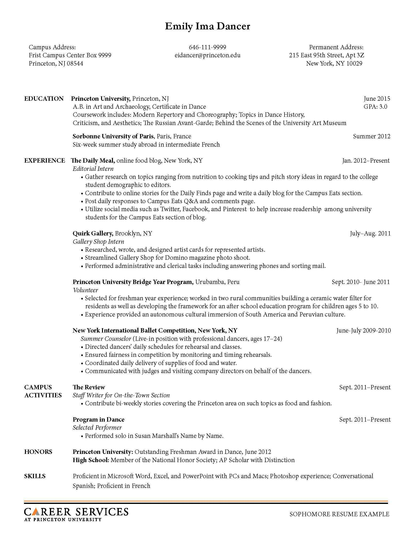 Perfect Art History Internship Resume Intern Resumes Chronological Internships Help  Samples For With College Sophomore Resume