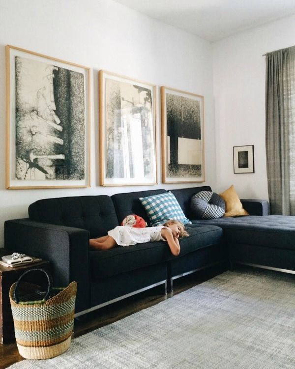 Charcoal Sofa Linen Grey Curtains Light Grey Rug Grey Couch