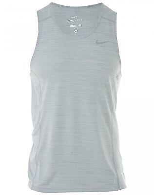 db343fb62c310 Nike Cool Miler Tank Top Mens 718346-100 Grey Dri-Fit Shirt Activewear Size  2XL