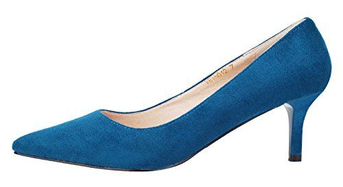 Women's Classic Kitten Heel Formal Working Place Evening Dance Pointed Toe Dress Pumps