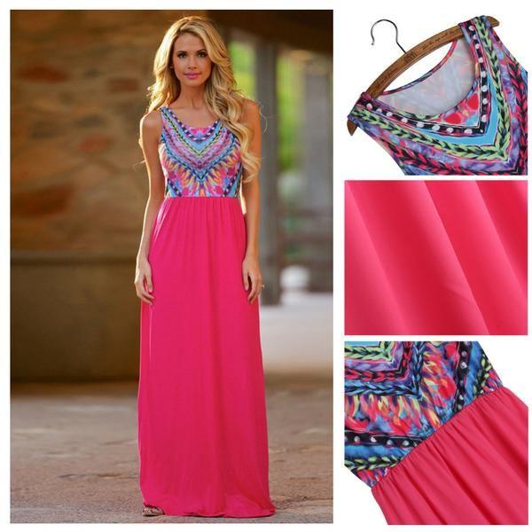 LadyArc Maxi Dress O Neck Sleeveless