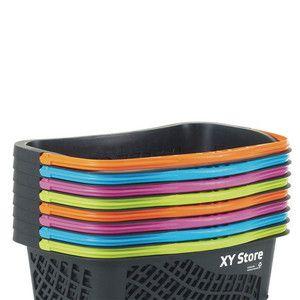 Atraktivní barvy nákupních košíků Wanzl GT26 Eco rozzáří prodejnu.