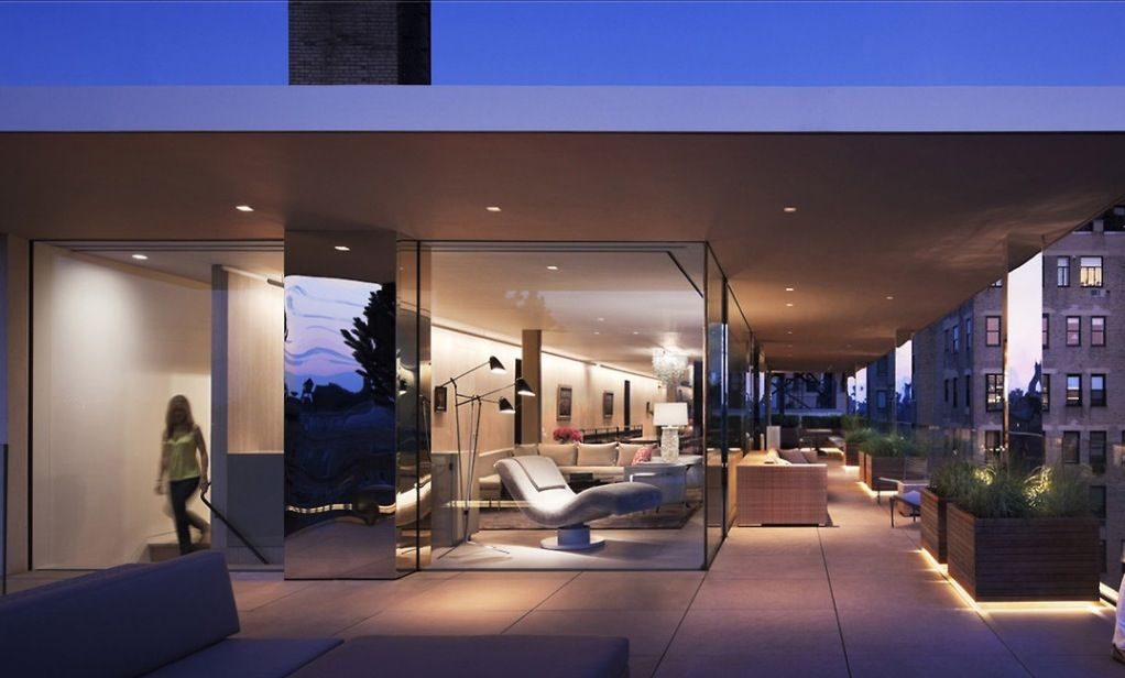 Modern residence , floor to ceiling glass for views and light and with fab outdoor entertaining terraces