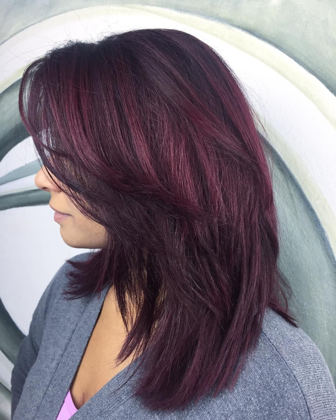 Awesome 30 Intriguing Plum Hair Color Ideas It Is All About Looking