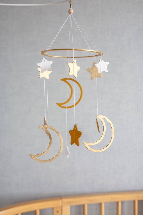 Baby Mobile Moon And Stars Crib Mobile Baby Mobiles Nursery