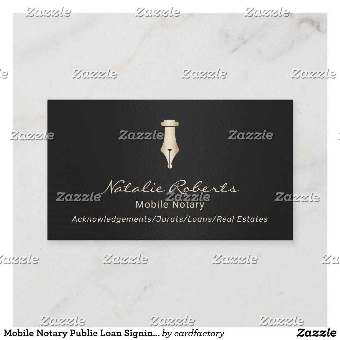 Mobile Notary Public Loan Signing Agent Black Gold