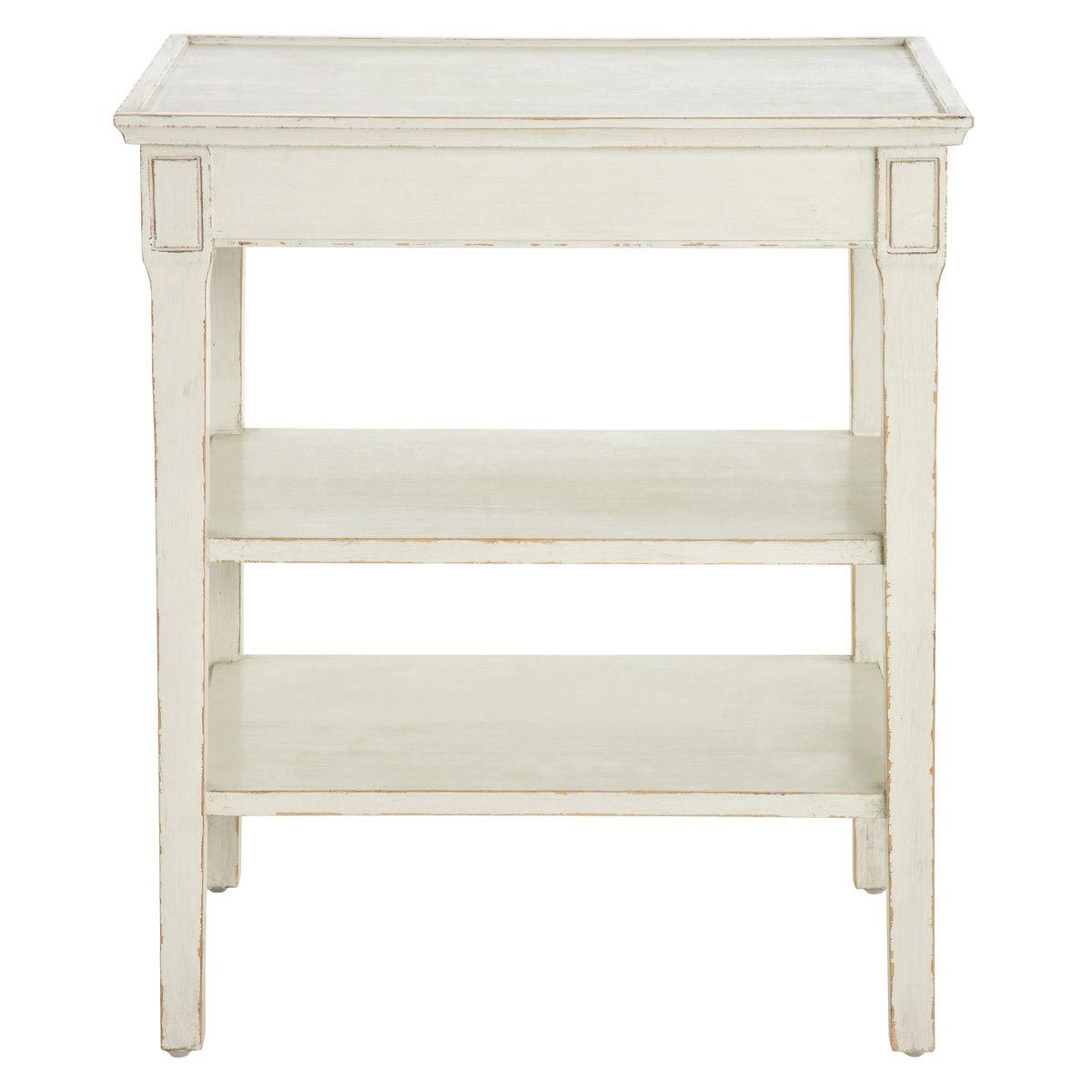 Side table with drawer  Gunnebo White Side Table  Shelves  White side tables Table