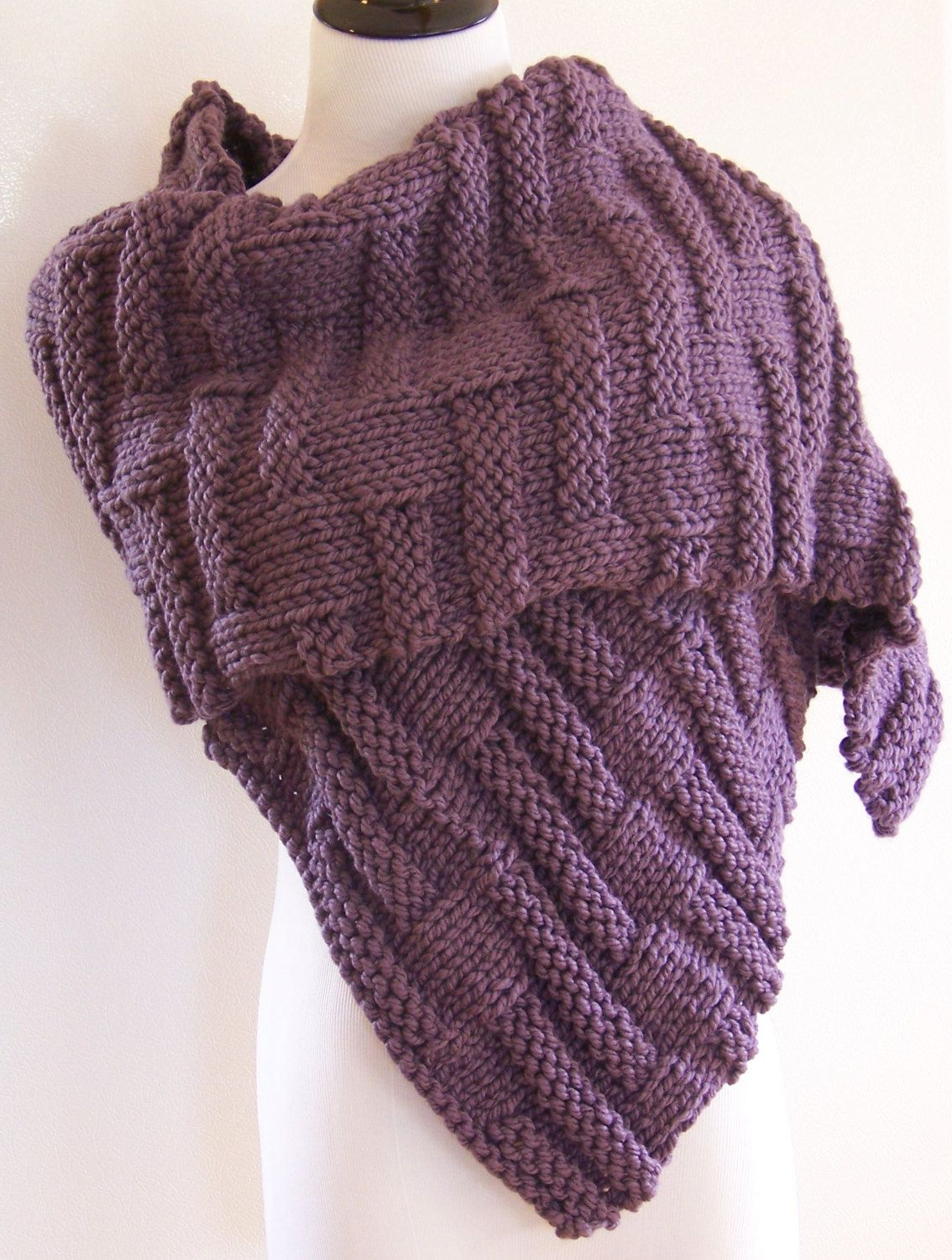 Knitting Pattern for Bayberry Wrap - This rectangular shawl is an ...