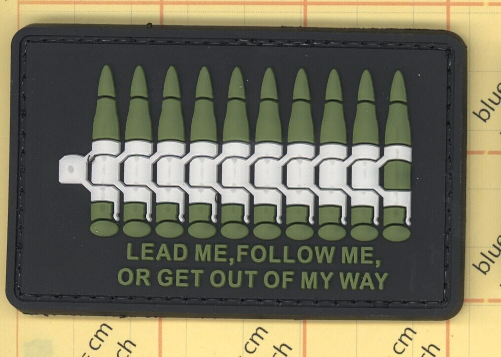 Lead Follow Green PVC Airsoft Paintball Morale Patch