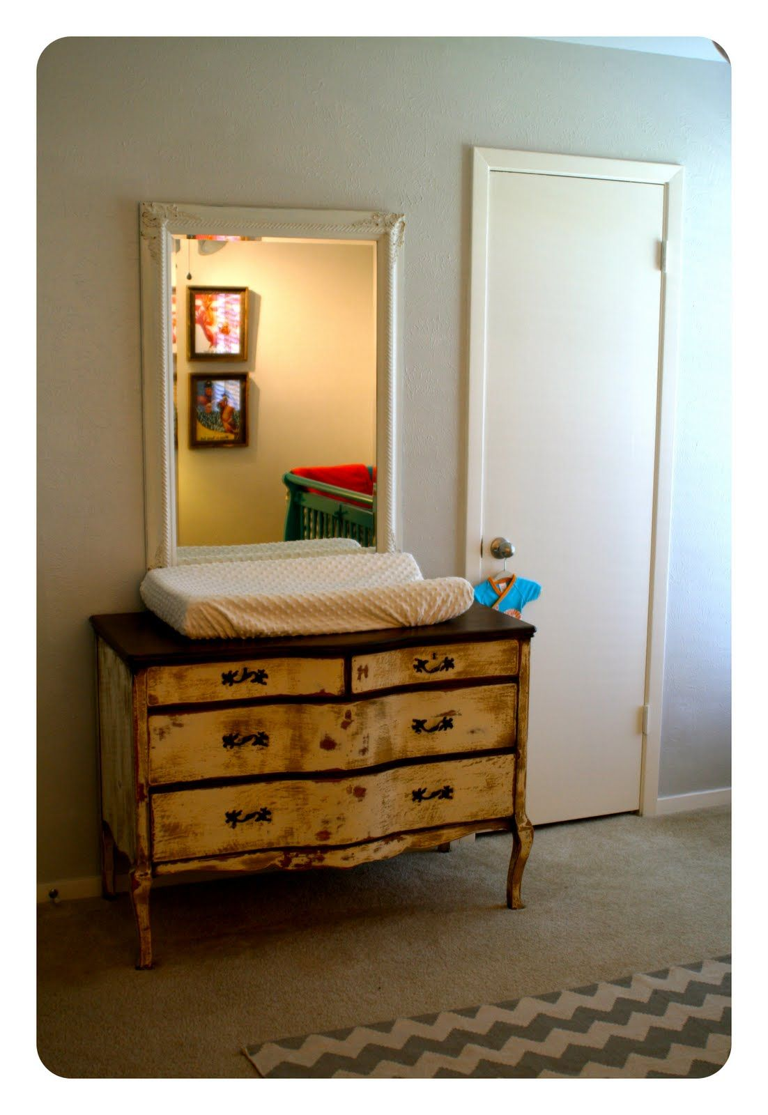 Antique Wash Stand Repurposed As A Changing Table