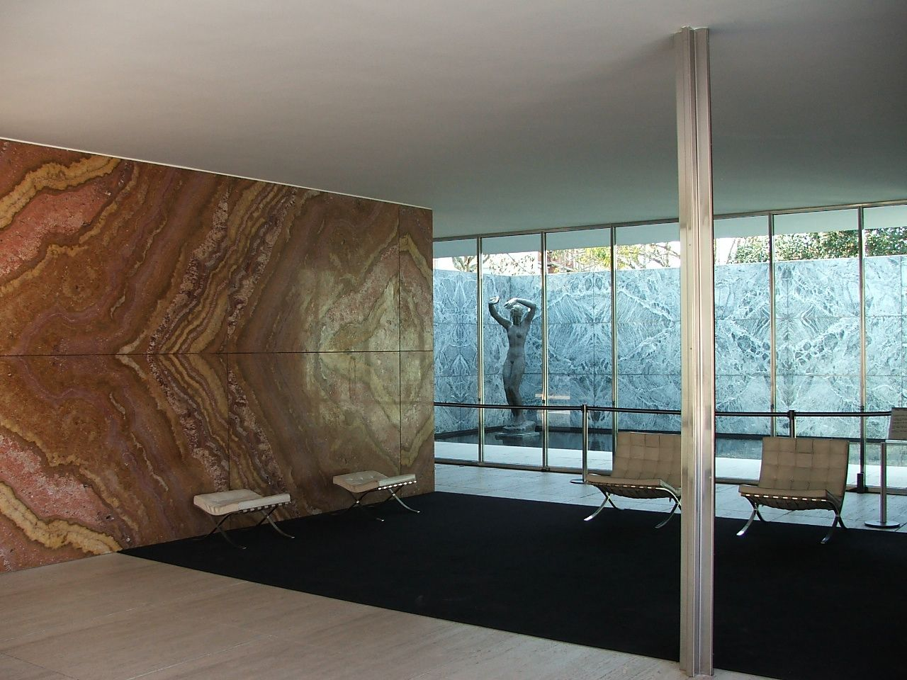 barcelona pavilion for expou mies van der rohe and please note the