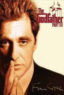 *THE GODFATHER:  Part III, (1990):  In the midst of trying to legitimize his business dealings in 1979 New York + Italy, aging mafia don Michael Corleon seeks to vow for his sins while taking a young protege under his wing.
