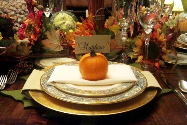 Lovely Thanksgiving place setting