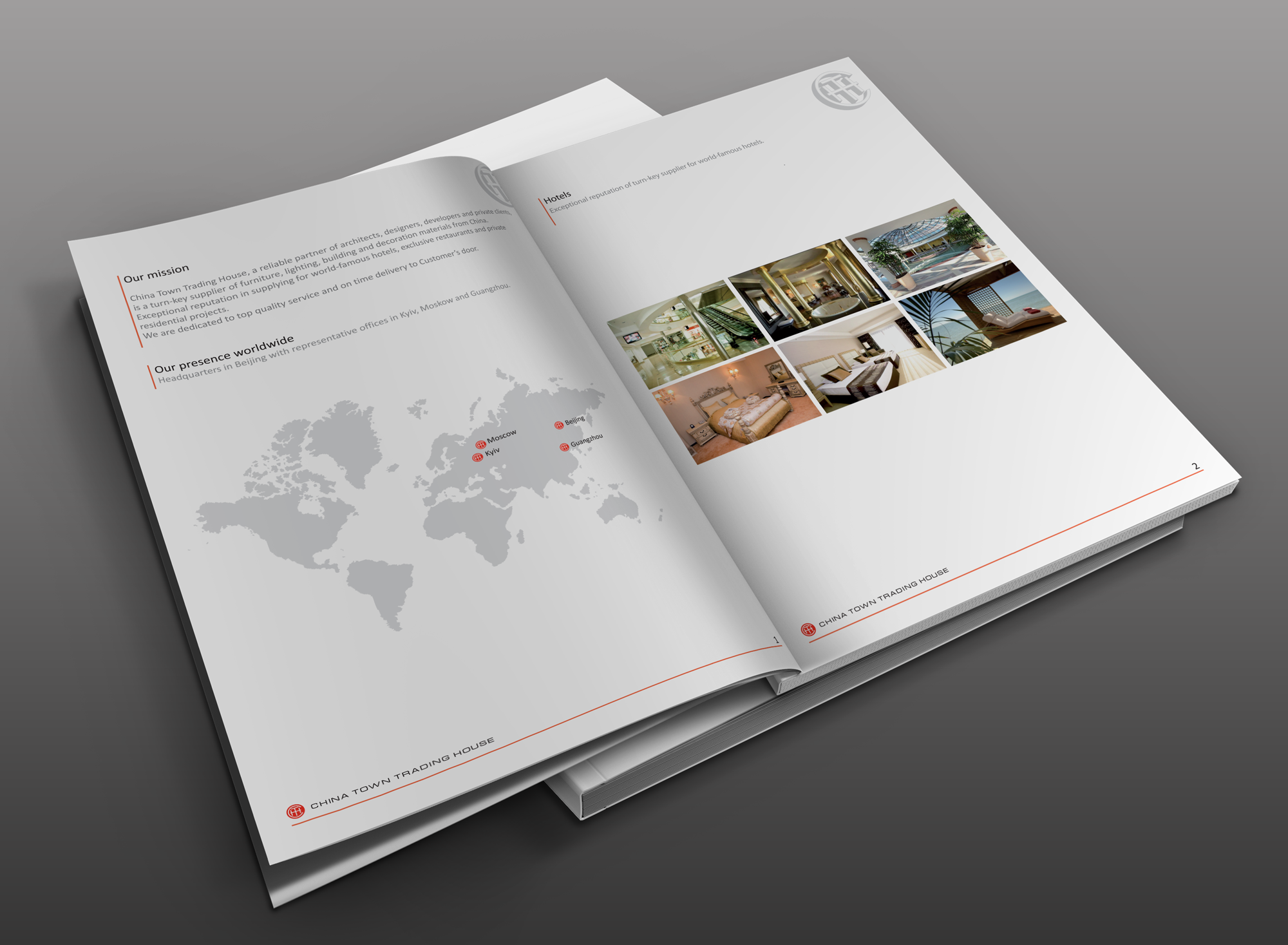 Presentation for China Town Trading House #8ncm #CTTH #corporateidentity