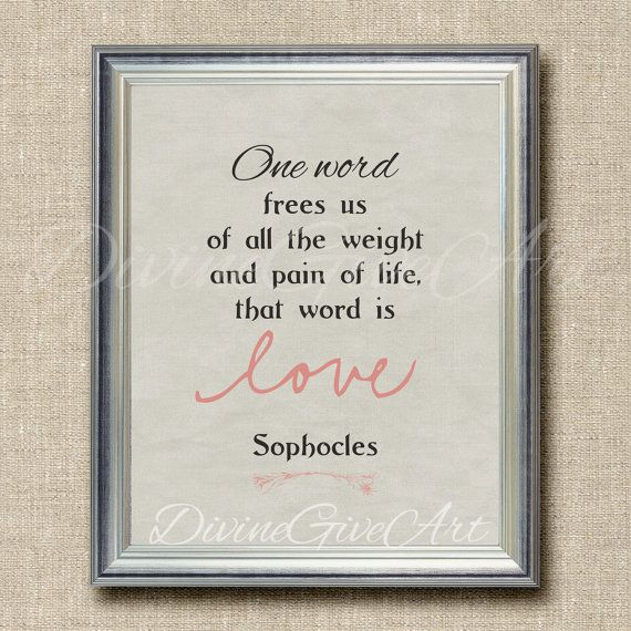 Digital Art Print Quote Printable Image Ancient Greek Quote Sophocles About Love Ancient Greek Quotes Greek Love Quotes Greek Words For Love