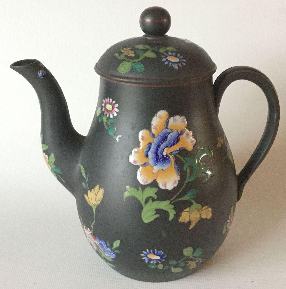 Basalt Flower Pots : S wedgwood basalt capri ware teapot coffee pot