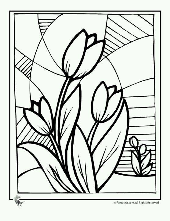 Flores #vidrio | Patrones | Falso vitral, Patrones y Flores