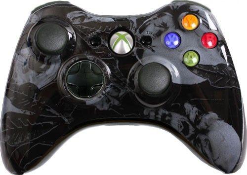 black nightmare custom xbox 360 controller brand new xbox 360