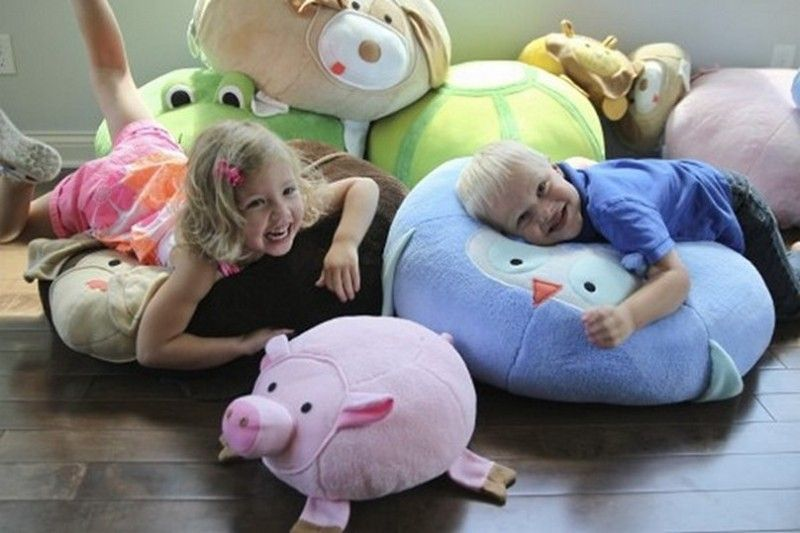Furniture, Kids Large Floor Pillow With Animal Style: The Motif Of ...