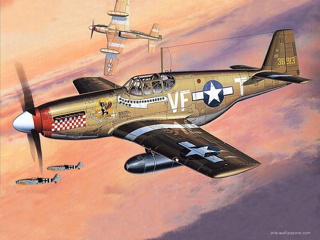 Patriotic War Aircraft Paintings of World War 2 Planes ...