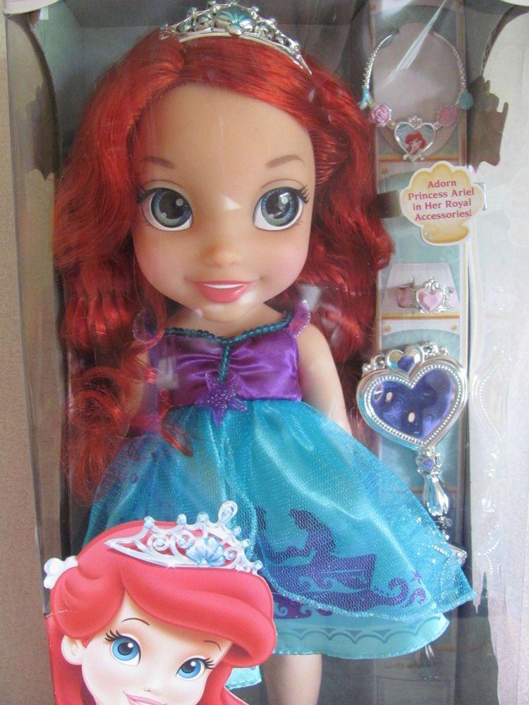 Disney Princess Toddler Ariel Doll Red Hair Blue Eyes ...