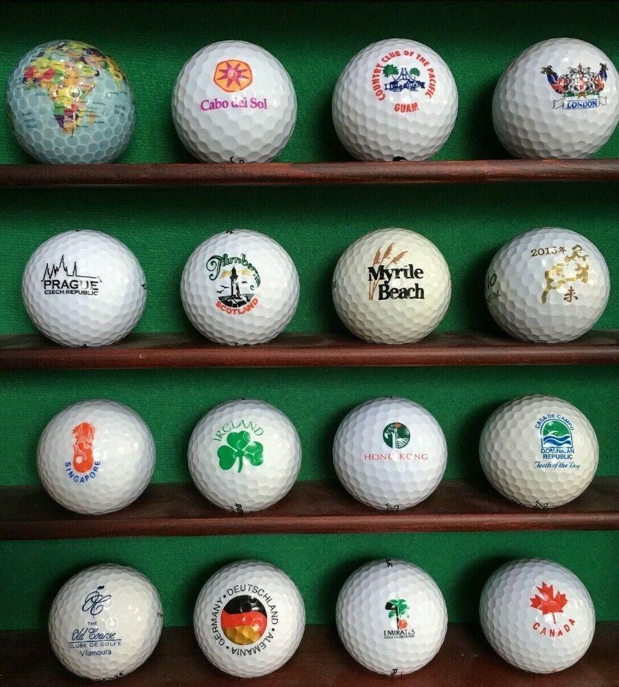 Ad Ebay Logo Golf Ball Balls 16 Balls Places Of The World Unique Rare Collectible Euc Golf Ball Golf Vintage Golf