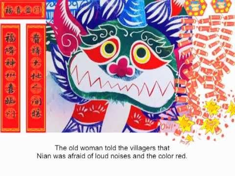 Story Of Nian A Chinese New Year Story Chinese New Year Crafts Chinese New Year Kids Chinese New Year Activities