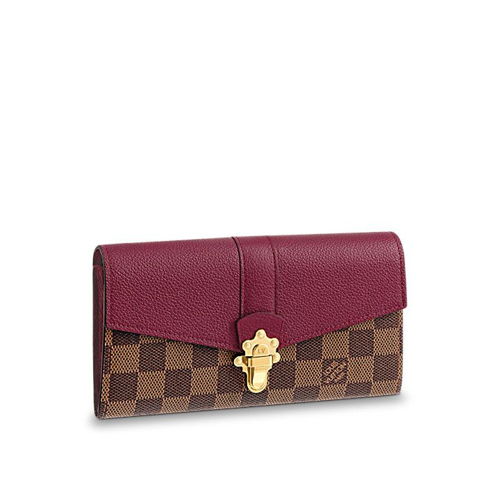 48335c5a99ba CLAPTON WALLET Damier Ebene Canvas in Women s Small Leather Goods  collections by Louis Vuitton