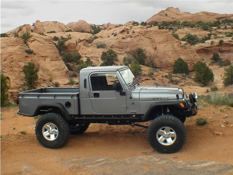 American Expedition Vehicles Aev To Show Production Ready Jeep Brute Pickup Conversion At Sema 2006 Jeep Brute Jeep Pickup Jeep Truck