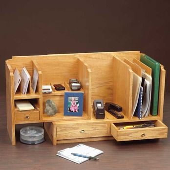 Fits All Desk Organizer Woodworking Plan By Woodcraft Magazine Woodworking Plan Desk Organization Furniture Projects