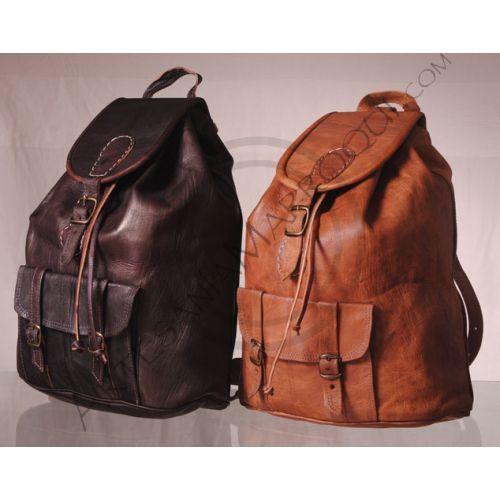 mochilas cuero marruecos