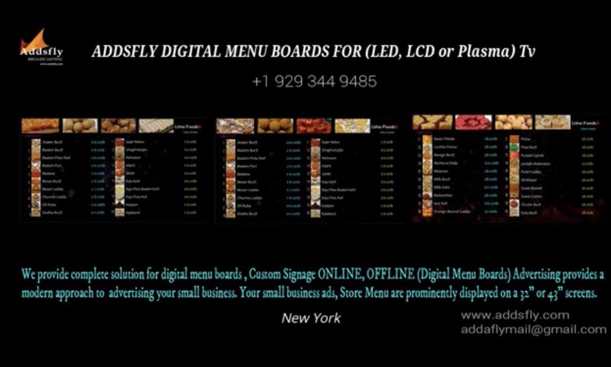 Digital menu boards services New York https//www.youtube