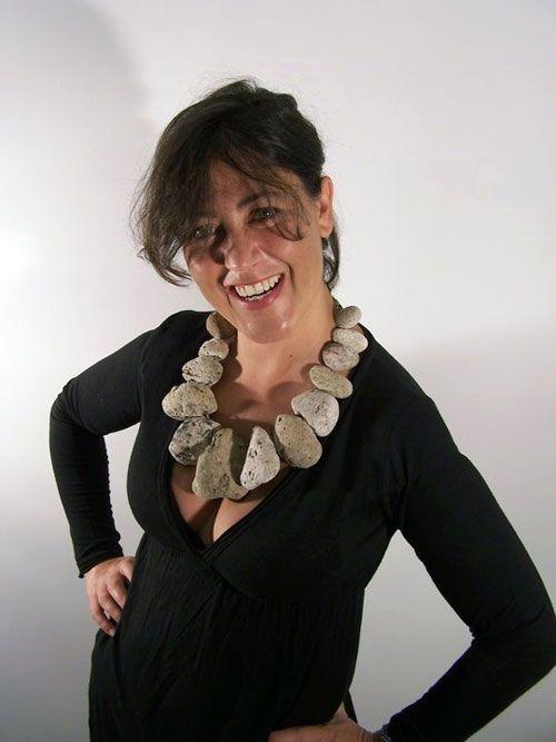 Francesca Gabrielli  Necklace: Wilma Flintstone 2010  Pumice stone