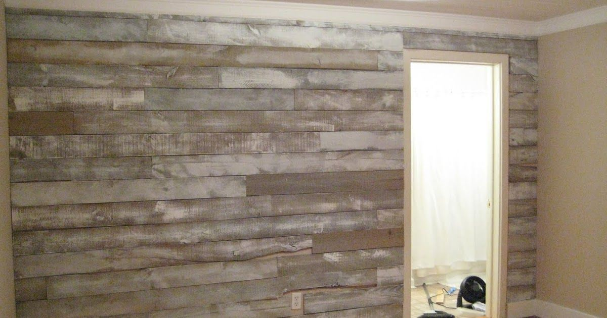 {Wood Accent Wall} After being inspired by other reclaimed ...