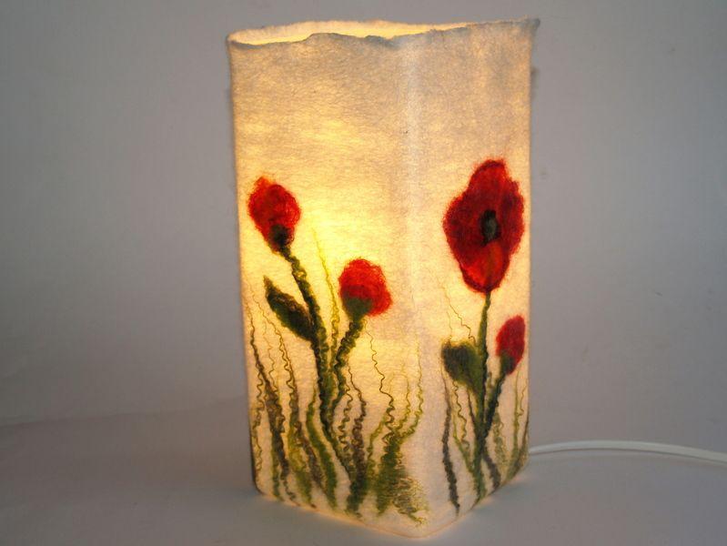 Filzlampe Mohnblumen Von Kimfilzartig Auf Dawanda Com