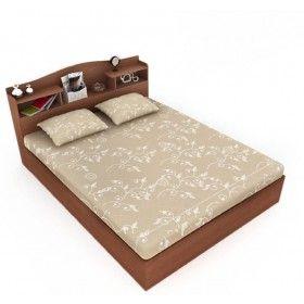 Best Wichita Wooden King Size Bed Finish Color Dark Walnut 400 x 300