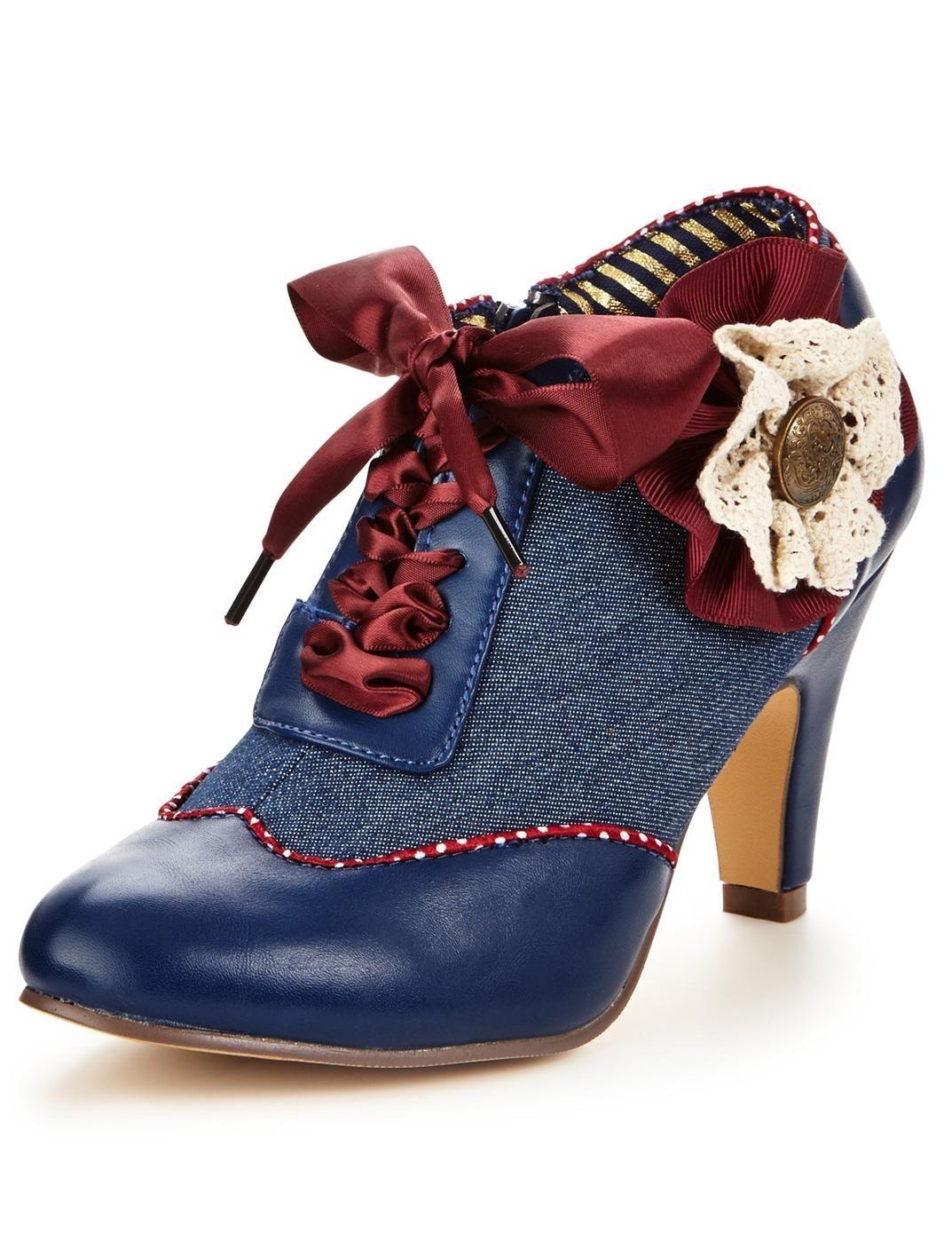 Womens Fabuleux Bottes Chaussures Mary Corsage Marron Jane Joe vYEbR6