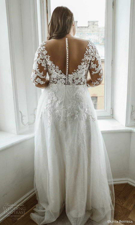 Olivia Bottega 2021 Plus Size Wedding Dresses Wedding Inspirasi Plus Wedding Dresses Wedding Dresses Lace Wedding Dress With Sleeves [ 1500 x 900 Pixel ]