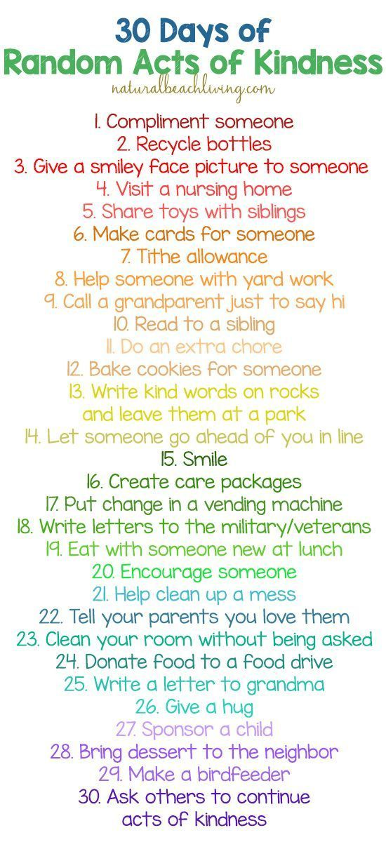 30 Random Acts of Kindness Ideas for Kids   Christmas For
