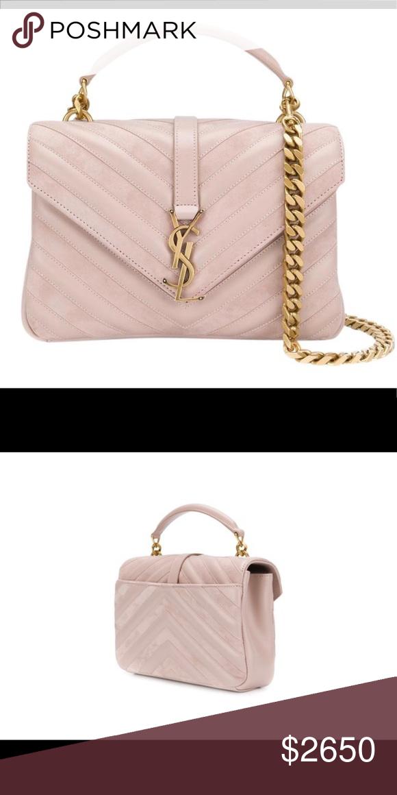 12d88df0e34 NEW Medium YSL College Monogram in Blush New!! Yves Saint Laurent Bags  Shoulder Bags