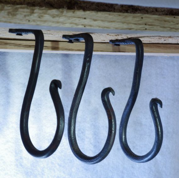 Awesome Large Hand Forged Under Cabinet Hook   Ceiling Hook   Cup Hook   Plant  Hanger