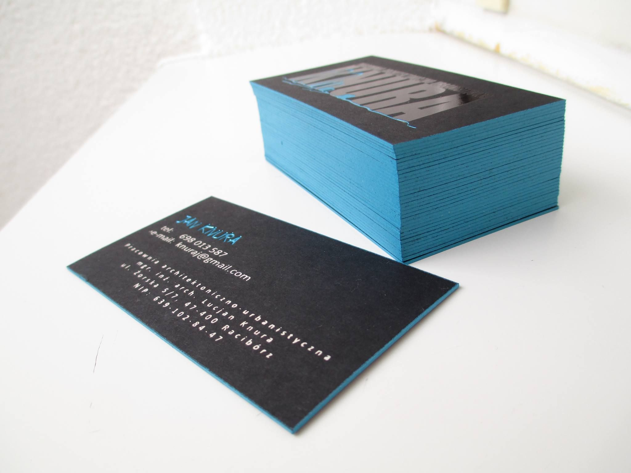 Business Card For Urbanist Hot Stamping Print Edges Design Boston