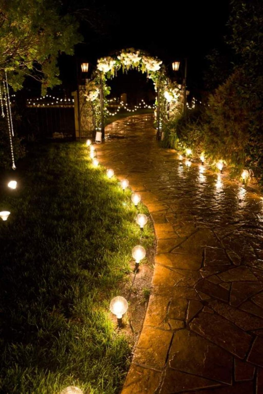 outdoor night lights on romantic garden lights google search garden design pictures outdoor wedding lighting garden path lighting outdoor wedding lighting