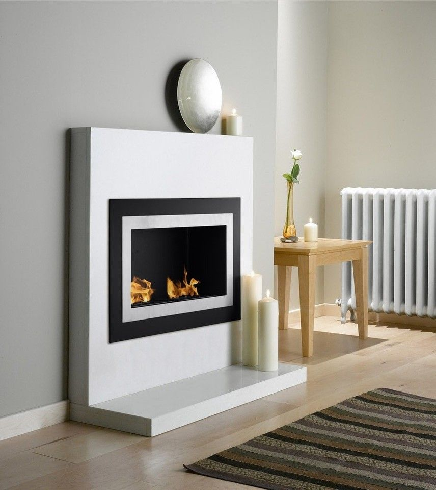 Natural gas wall mount fireplaces - Ethanol Fireplace Villa Wall Mount
