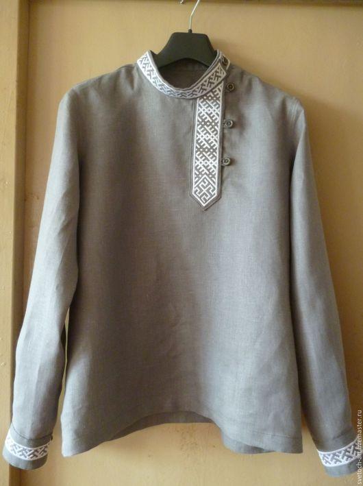 1f5c28478c9 Одежда ручной работы. Городская рубаха с орнаментами. Косоворотка (Арт.  Гор-04
