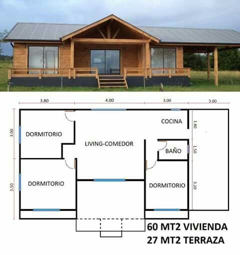 Casa campo madera en 2019 casas peque as casas for Casas prefabricadas pequenas