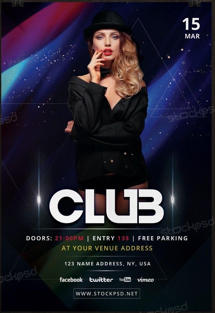Club Event Download Free Psd Flyer Template Download Psd